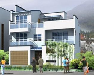 带车库阳台三层别墅建筑结构施工图纸 10米×10米