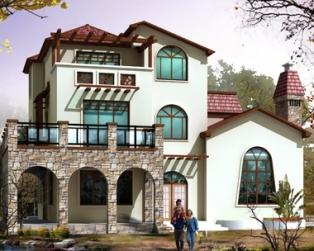 672三层农村住宅豪华复式楼别墅设计图纸14m×15m