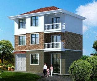 三层带车库农村自建房别墅住宅设计图纸11米×10米