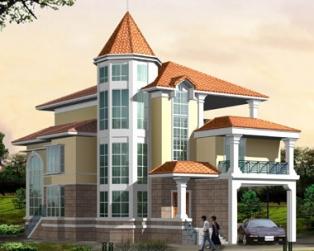606独栋豪华欧式建筑别墅设计全套图纸13m×20m