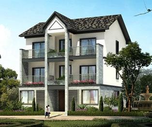 三层新农村自建房住宅带车库房屋设计图纸 10米×13米