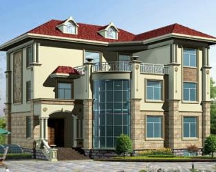 三层占地170平米带地下室豪华别墅设计施工图纸15米×14米