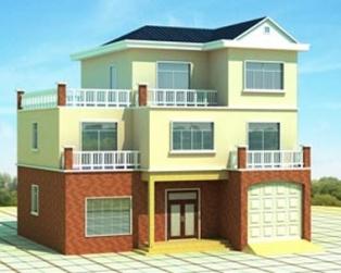 占地130平米经典三层带车库别墅设计图施工图纸13m×12m