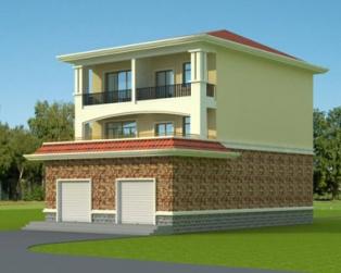 占地140平米三层复带门面商铺小别墅设计图纸 9m×15m