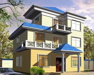 简洁欧式三层私人豪华别墅全套施工图纸12米×11米
