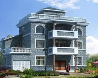 带车库三层实用农村自建房别墅建筑施工全套图纸15.3米×11米