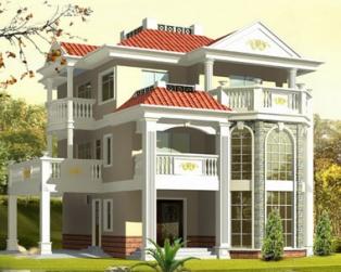 占地150平米漂亮欧式三层带车库复式楼中楼别墅设计13米×14米