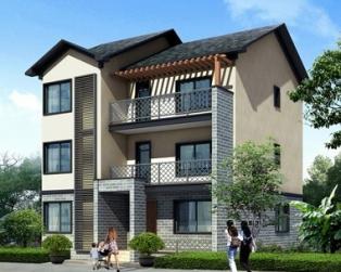 占地110三层新农村自建房别墅住宅建筑施工设计图纸 10米×13米