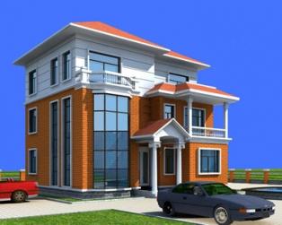 高端大气三层坡顶带露台别墅建筑设计图纸12m×11m