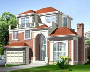 占地160平米带车库豪华复式楼中楼三层别墅图纸13米×12.5米