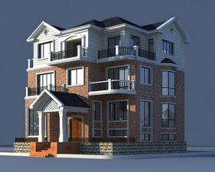 三层欧式大型豪华复式客厅别墅施工设计图纸13m×17m