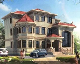 欧式三层复式楼中楼豪华别墅全套设计施工图纸 16×13.7米