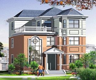 占地150漂亮大气复式楼中楼三层别墅建筑设计图纸 12米×13米