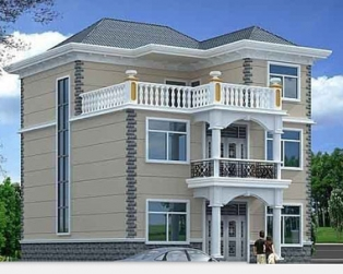 占地110平米三层带露台别墅全套水电结构设计图纸11米×9米