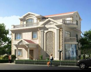 私家大型三层欧式豪宅带电梯别墅设计施工图纸15米×15米
