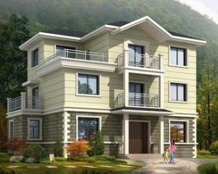 占地110平米三层新农村住宅自建房屋别墅全套施工图纸14米×9米