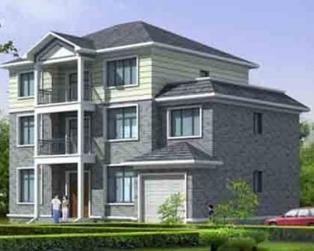 经典实用新农村三层带车库别墅设计施工图纸15米×11米