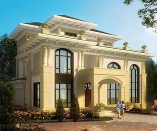 三层复式楼中楼大厅豪华别墅设计全套建筑施工图纸18米×20米