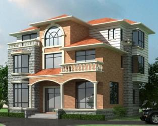 占地140平米城乡自建豪华三层别墅设计施工图纸全套12米×12米