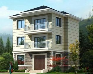 三层带阳台自建房经典别墅设计建筑施工图纸9米×8米