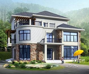 140平米经典带双车库复式楼中楼三层别墅全套设计图纸12米×12米