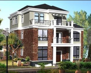 占地150平米三层私人豪华别墅建筑设计施工图纸12米×13米