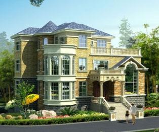 三层带地下窒露台欧式豪华别墅建筑设计施工图纸15m×13m