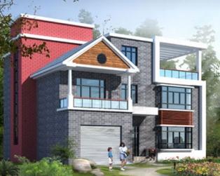 三层赣州陈宅小别墅全套设计施工完整图纸15米×16米