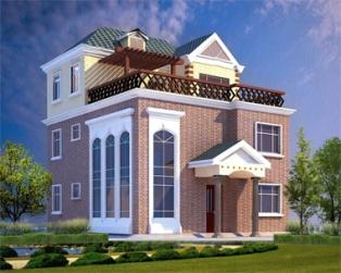 豪华欧式三层带屋顶花园别墅全套结构水电图纸11米×12.5米