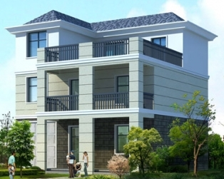 三层带露台健身室别墅建筑结构施工图纸11.5米×11.5米