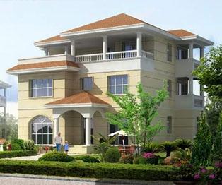 占地140平米三层下沉式客厅豪华别墅设计图纸全套13米×11米