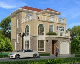 三层简洁复式楼中楼小别墅全套设计施工图纸8米×12米