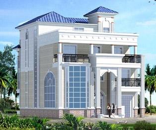 三层半带屋顶花园复式楼中楼豪华别墅设计施工图纸11米x16.1米