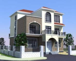 占地140平米三层漂亮简欧式别墅建筑施工设计图纸12米×13米