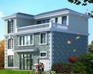 占地120三层实用现代别墅带车库设计全套图纸 12米×10米