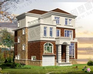 占地130平米三层带车库架空层高档别墅全套图纸 10.6米×12米