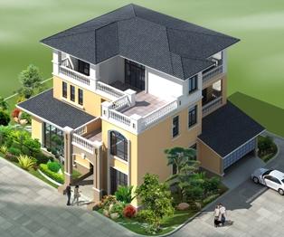 三层带双车库现代豪华别墅全套专业施工设计图纸19米x17米