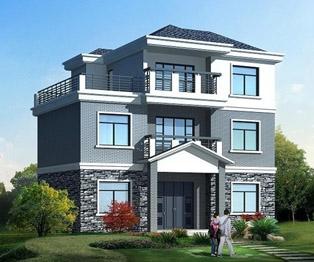 占地110三层经典别墅全套自建房设计图纸及效果图 12米×9米