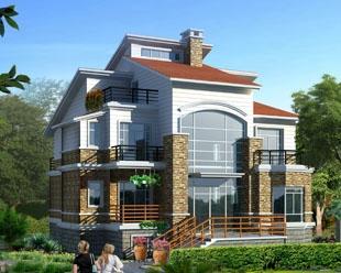 占地170三层带地下双车库豪华住宅别墅全套图纸13米×14米