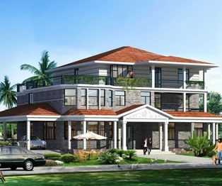 带屋顶花园豪华欧式三层别墅建筑设计及水电全套施工图纸23米×15.3米