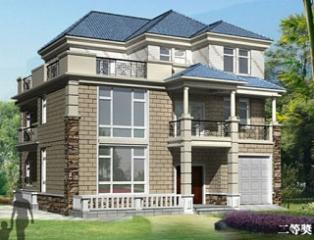 三层高档别墅带车库建房设计施工图纸14米×15米