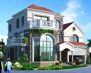 三层复式客厅楼中楼带双车库豪华别墅全套设计图纸14.9米×14.7米