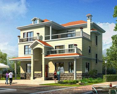 占地160三层豪华实用型别墅建筑设计施工图纸14米x13.5米