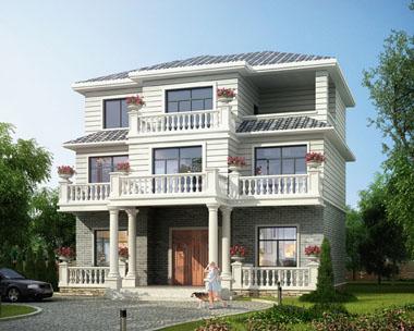 占地140平米三层经典自建别墅全套施工图纸 12.2米×9.5米