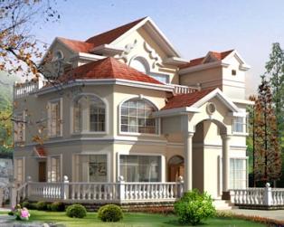 占地130平米豪华欧式三层别墅设计图纸施工图纸13米×12米