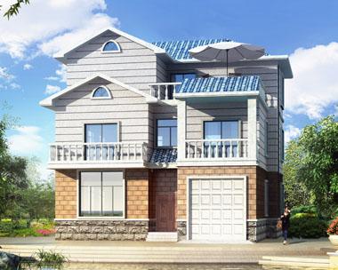 三层带车库欧式豪华别墅设计全套施工图纸11.1米×12.9米