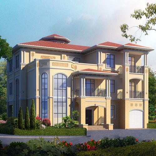 带地下室三层高端豪华复式楼中楼别墅设计图纸 22.3m×16.9m