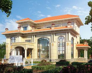 欧式三层高端大气复式楼中楼别墅全套设计图纸17.7米x15.7米