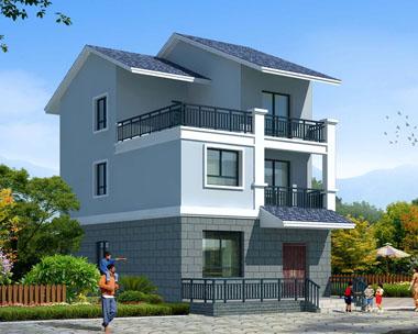 三层新农村简洁实用精致户型别墅建筑设计图纸7.8mx11.2m