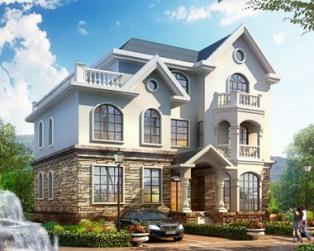 占地160平米三层欧式风格别墅全套设计图纸15米x10.8米